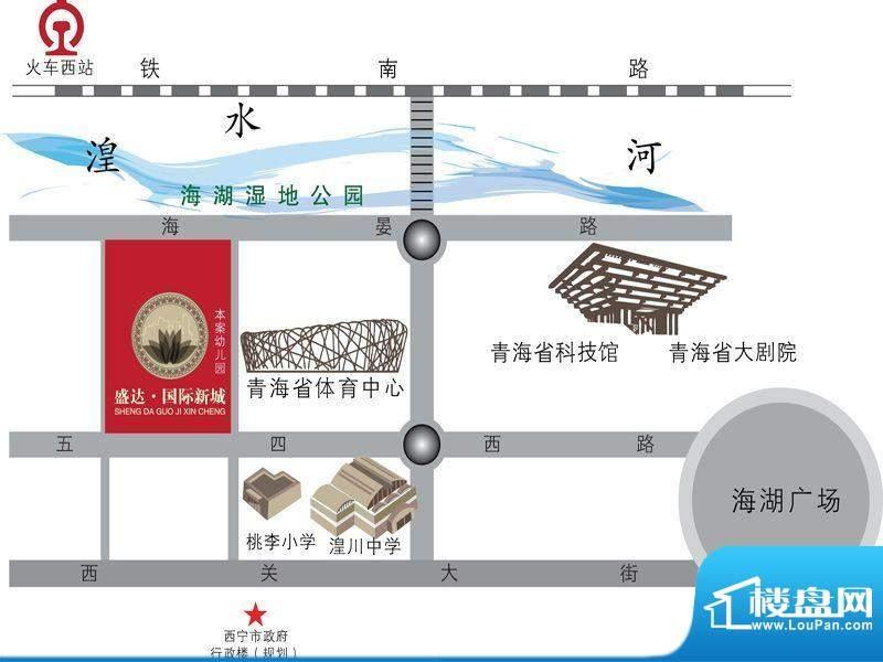 盛达国际新城交通图