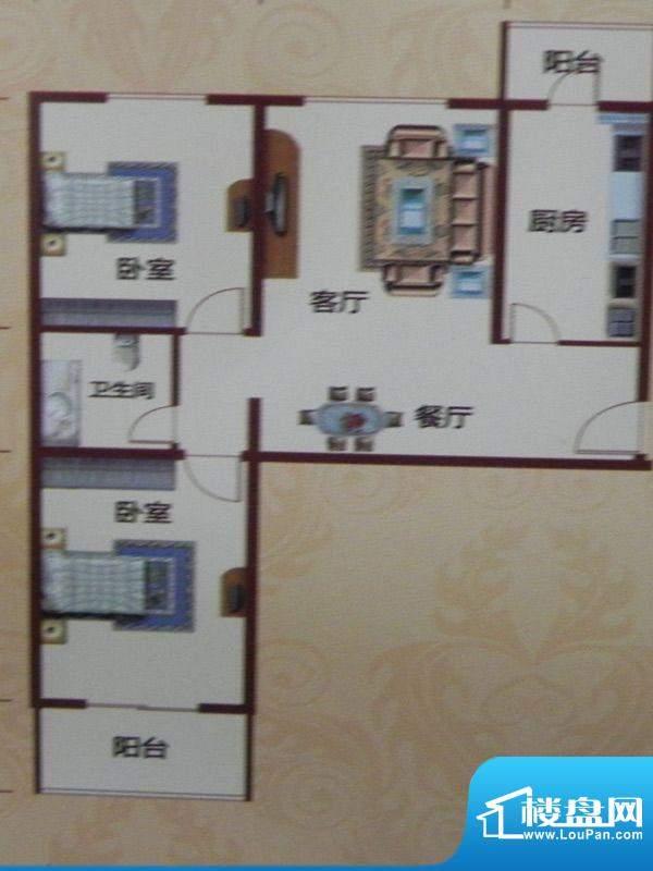 黄河花园C-2户型 2室面积:109.00m平米