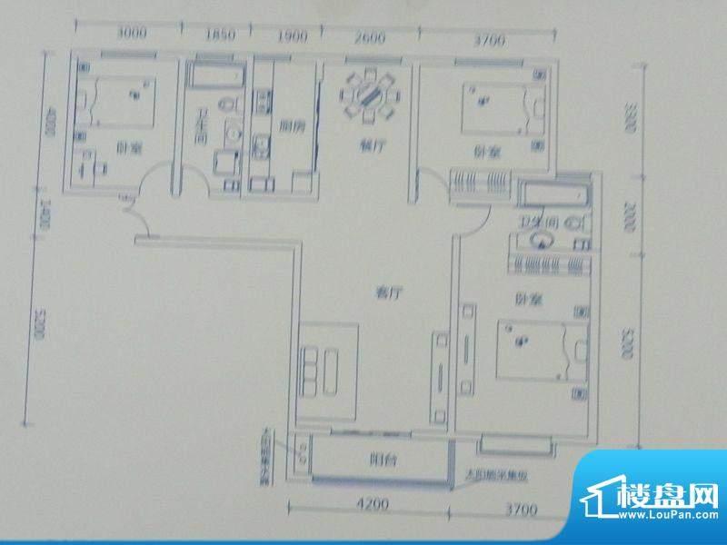 新力景瑞新城A1三房面积:148.58m平米