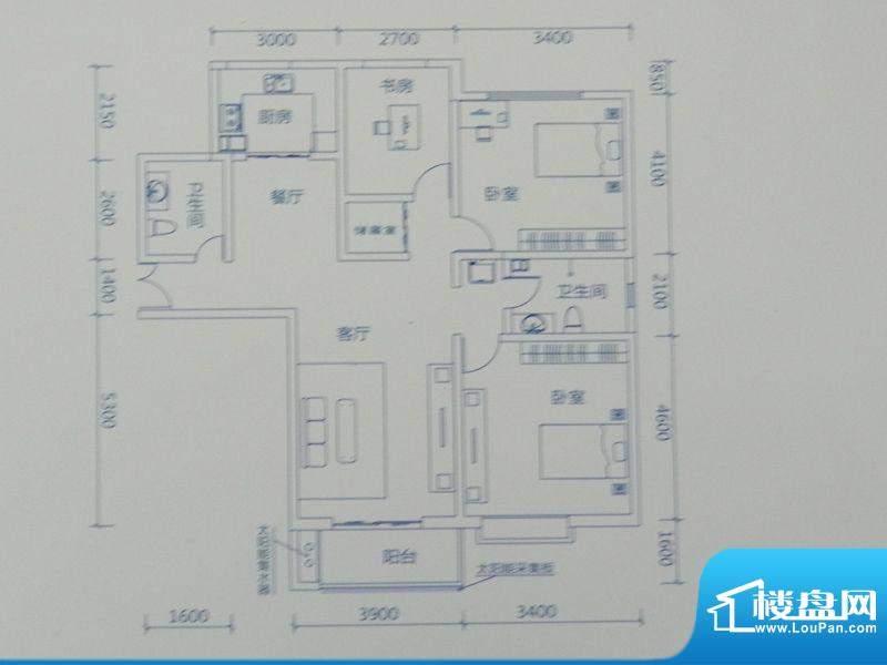 新力景瑞新城B1三房面积:133.49m平米