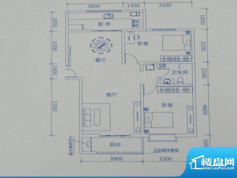 新力景瑞新城B3两房面积:113.91m平米