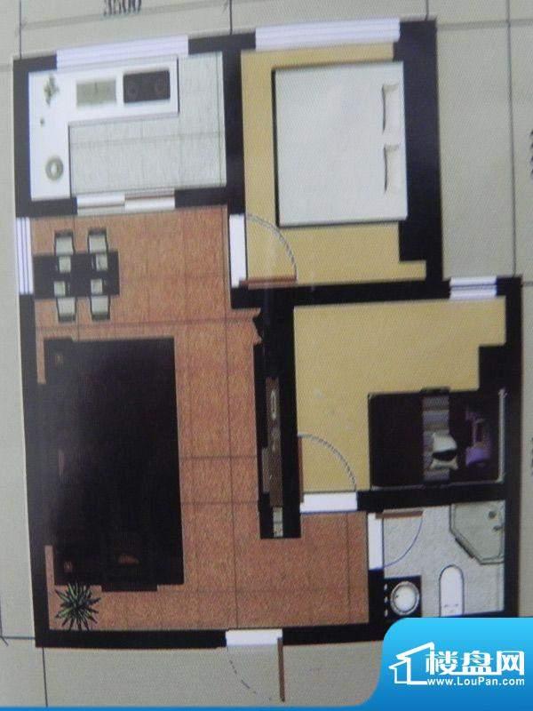 聚和园2房户型 2室2面积:74.99m平米