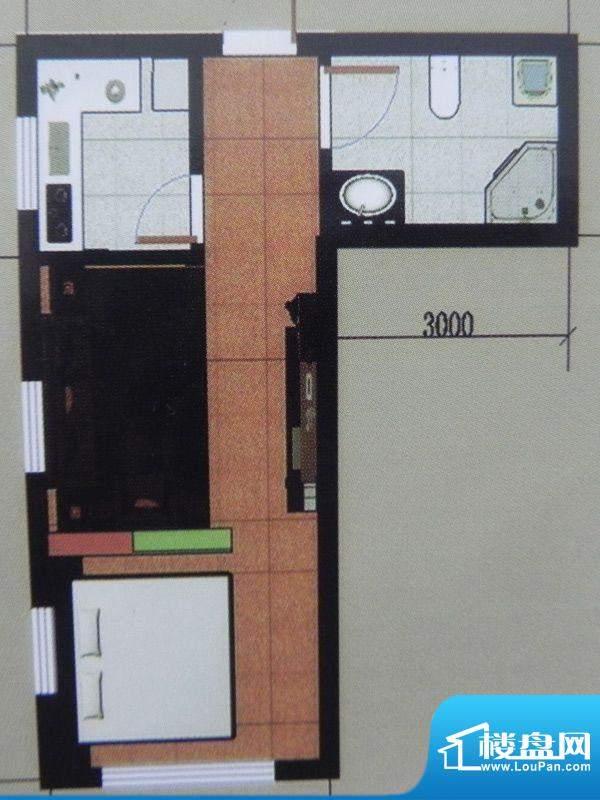 聚和园1房户型 1室1面积:51.28m平米