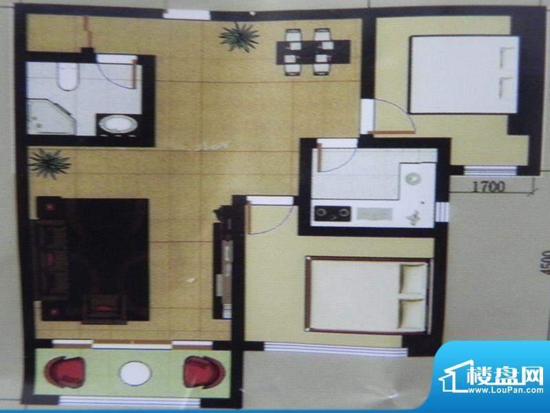 聚和园2房户型 2室2面积:112.70m平米