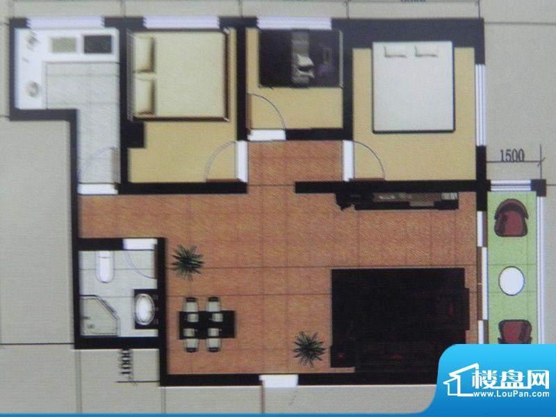 聚和园2房户型 2室2面积:114.00m平米