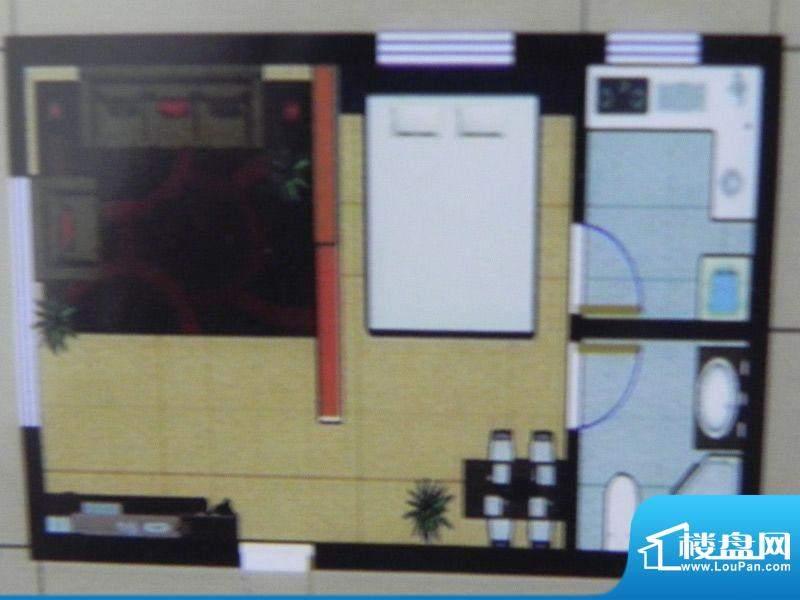 聚和园1房户型 1室1面积:42.00m平米