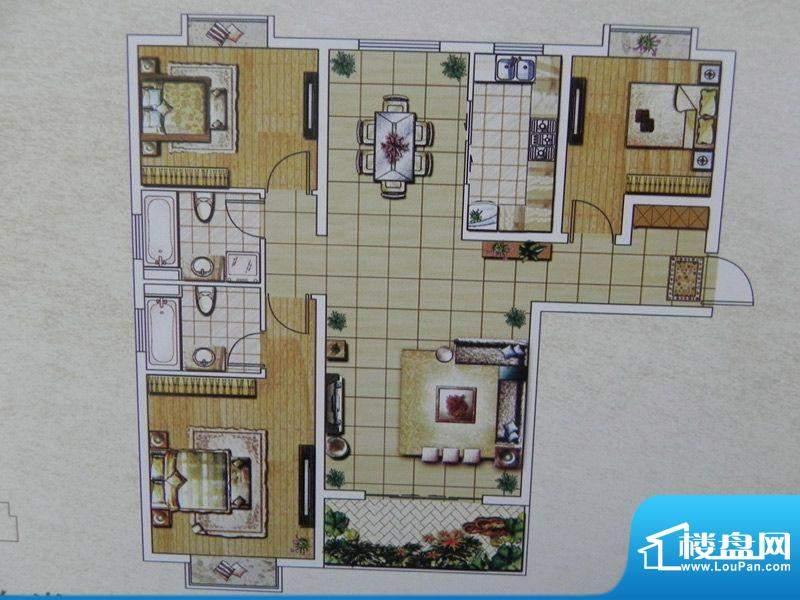 西城名邸6/7/9号楼 面积:124.22m平米