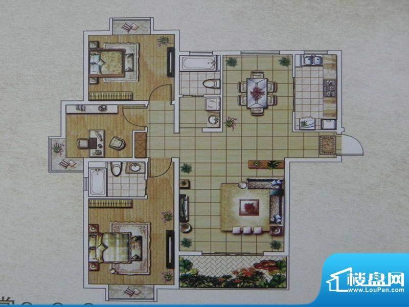 西城名邸4/8/12号楼面积:126.00m平米