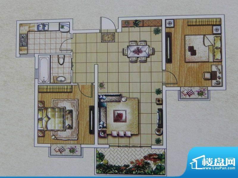 西城名邸4/8/12号楼面积:93.20m平米