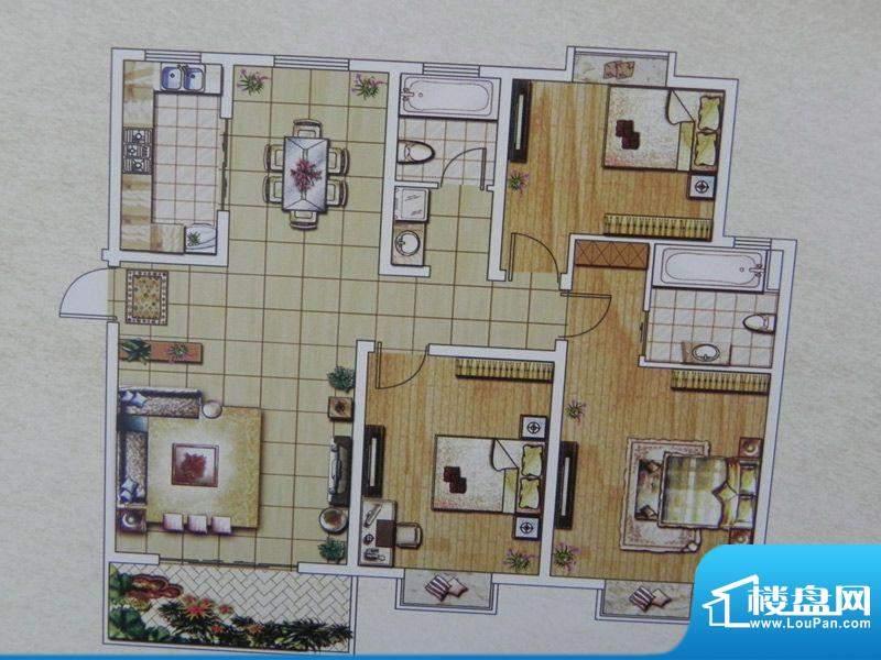 西城名邸4/8/12号楼面积:137.99m平米