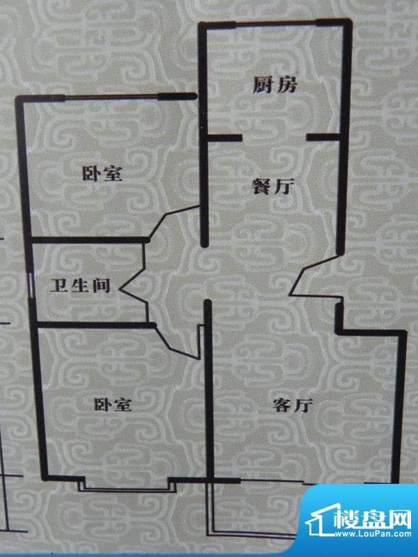 瑞景河畔家园2房户型面积:91.04m平米