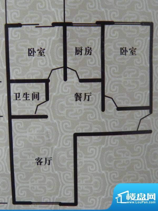 瑞景河畔家园2房户型面积:103.80m平米