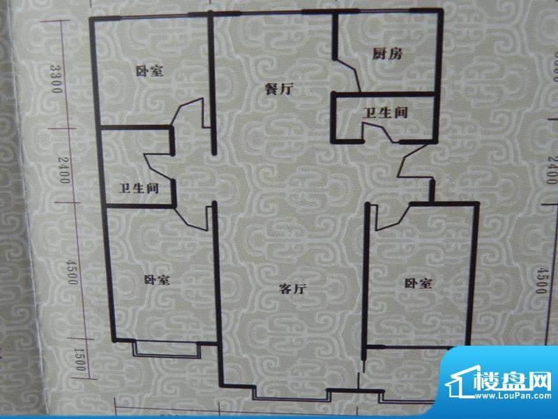 瑞景河畔家园3房户型面积:128.14m平米