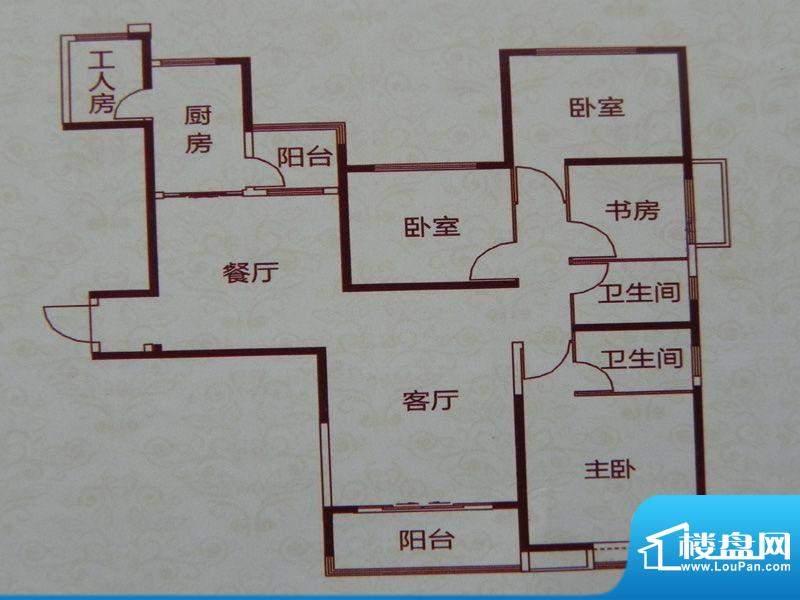 恒大名都4房户型 4室面积:180.00m平米