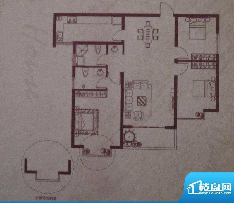 卓越·香樟美域B栋B面积:118.15m平米