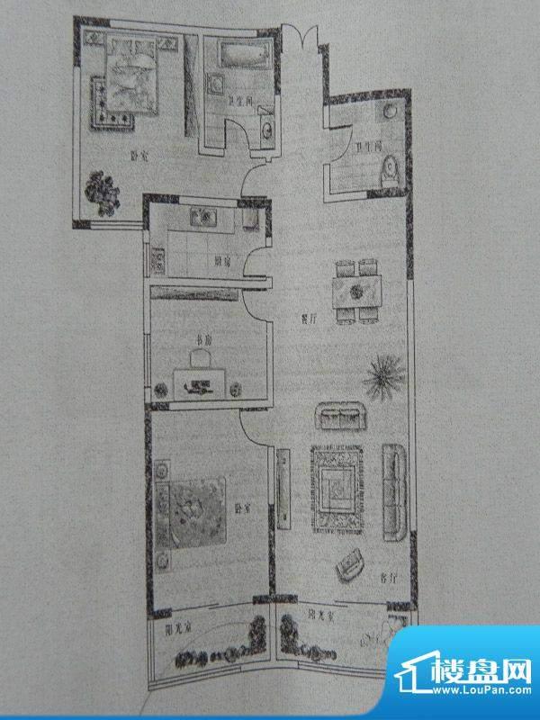 新千国际广场3房 B2面积:135.13m平米