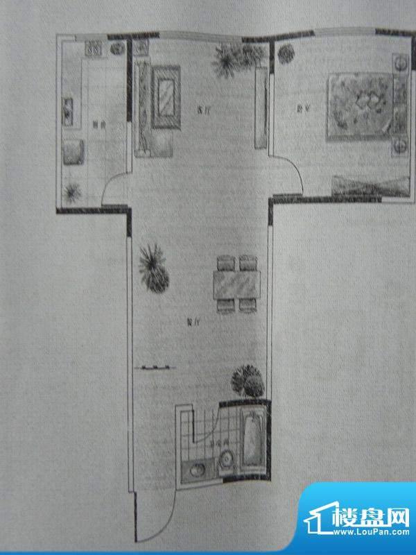 新千国际广场1房 F户面积:62.93m平米