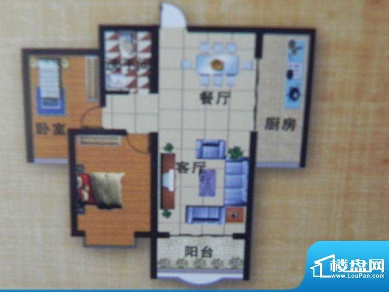 荣豪花园7号楼B户型面积:93.89m平米