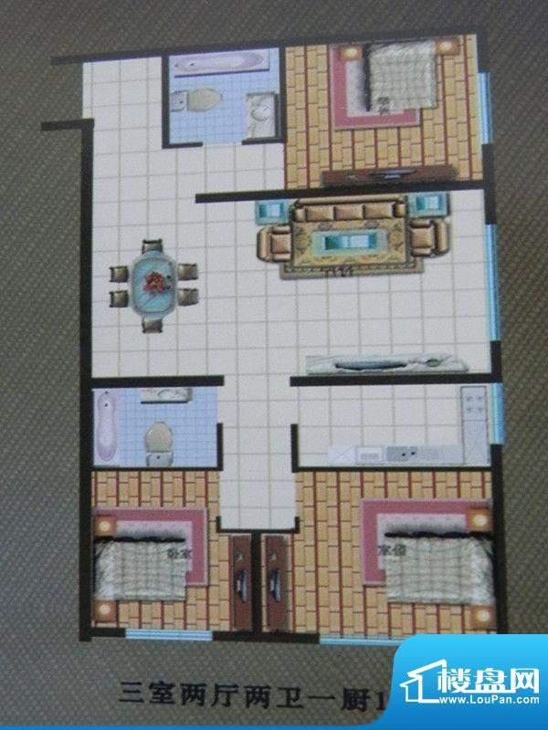 福馨家园3房户型 3室面积:103.00m平米