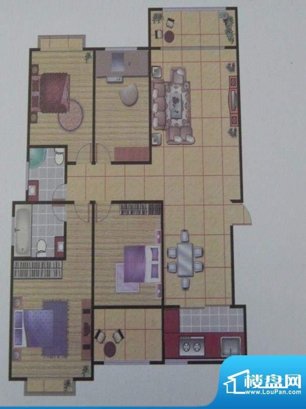 长乐港湾3号楼 3室 面积:141.89m平米