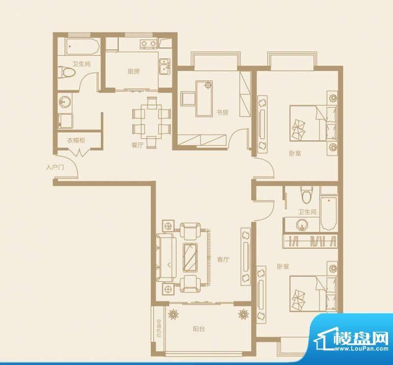 诚发·都市新城C2户面积:142.30m平米