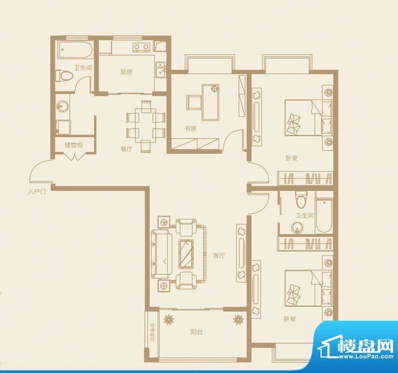 诚发·都市新城C2`户面积:139.23m平米