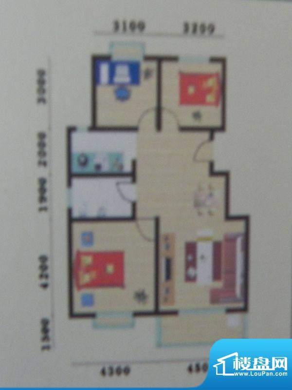 盛华景苑3房C/E/E1户面积:103.05m平米