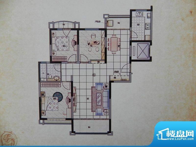 香格里拉3房B1X户型面积:128.00m平米