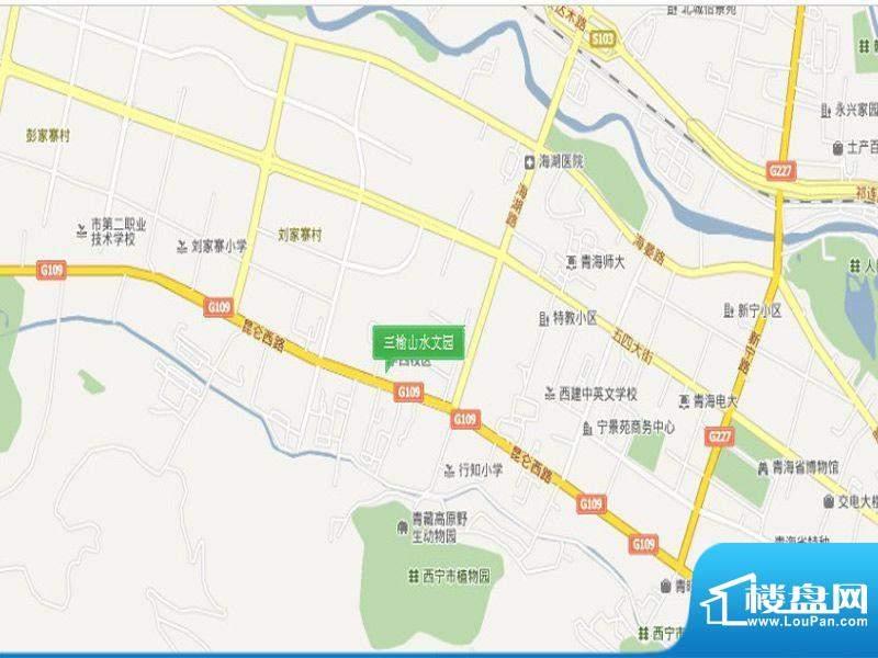 三榆山水文园交通图