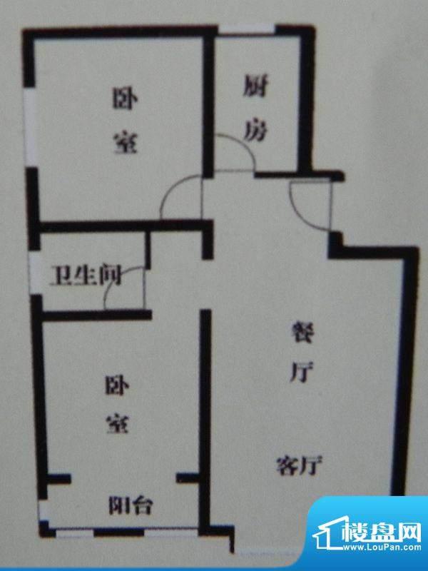 盛泽名城B1户型 2室面积:86.28m平米