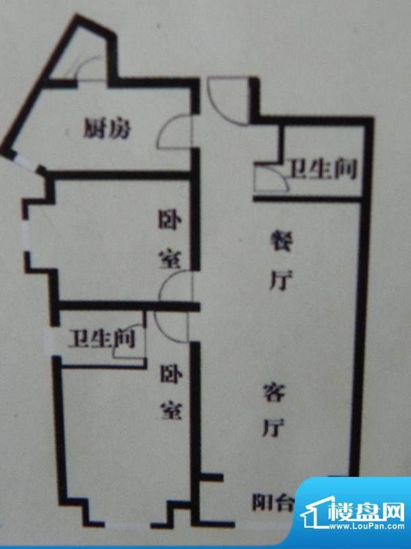 盛泽名城C2户型 2室面积:115.71m平米