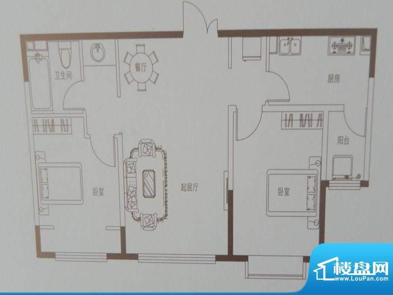 新华联广场C-3户型 面积:96.11m平米
