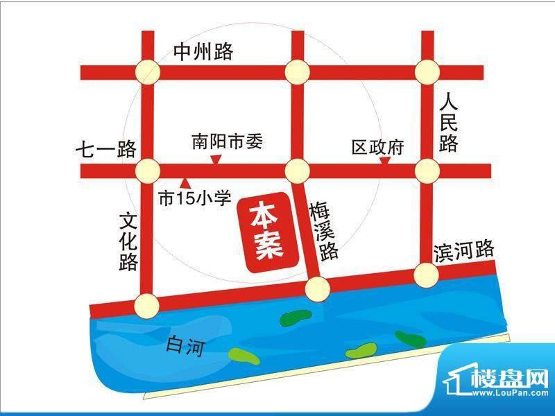 同乐新城A区交通图