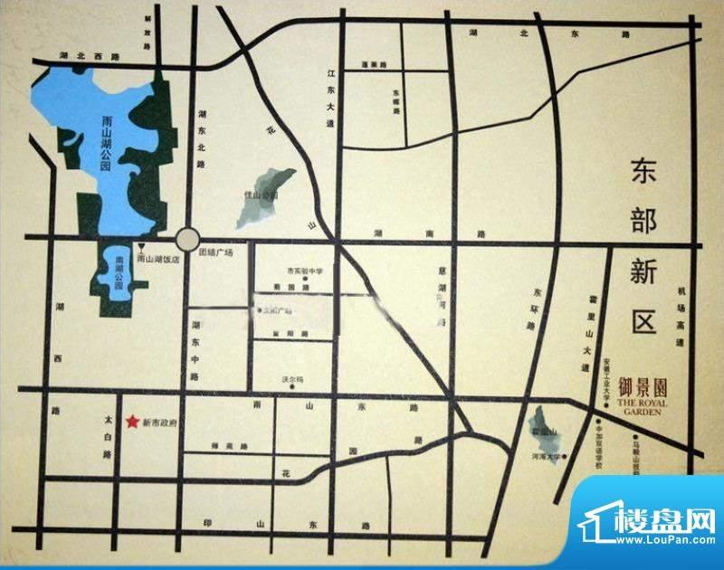 御景园交通图