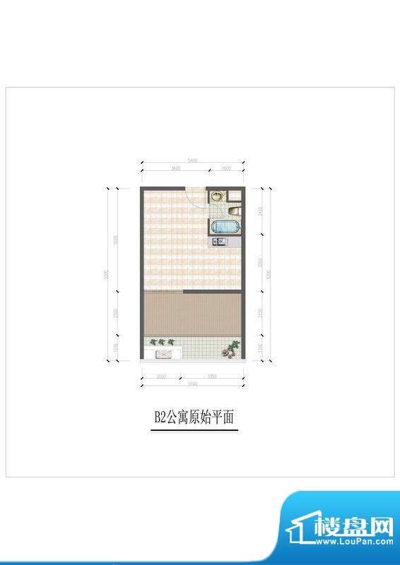 大华锦绣国际B2户型面积:30.00m平米