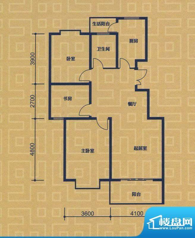 紫金城A1/A2户型 3室面积:111.38m平米