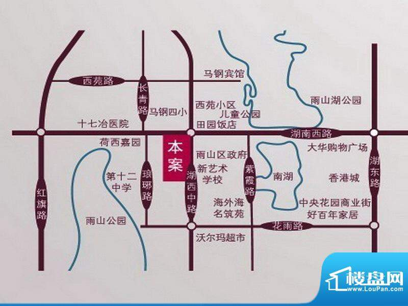 宁泽园交通图