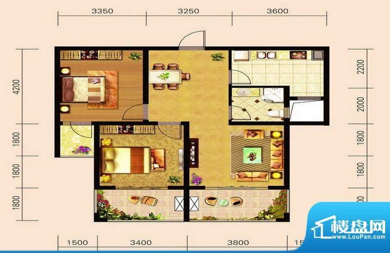 宁泽园Z3户型图 2室面积:97.41m平米