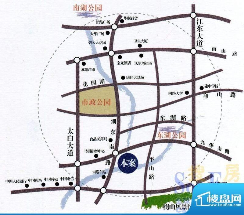 天泽水岸交通图