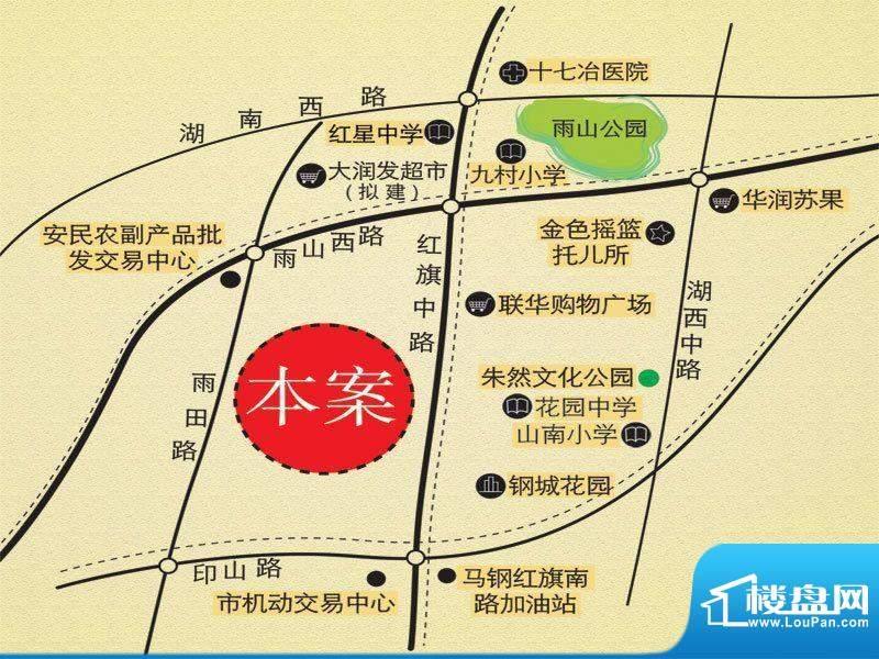 苹果公寓交通图