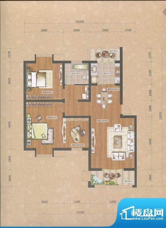 一品和莊二期15#楼C面积:98.00m平米