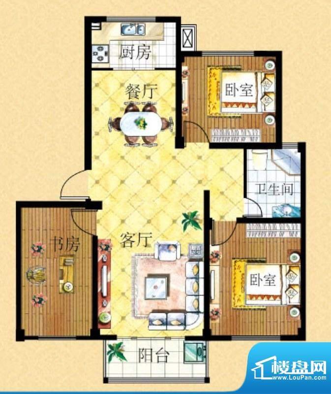 姑孰新城里昂座3号楼面积:106.75m平米