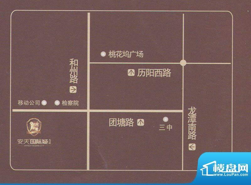安天国际城交通图