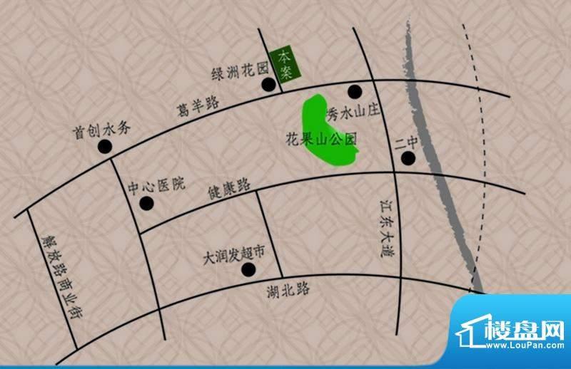 绿洲茗苑交通图