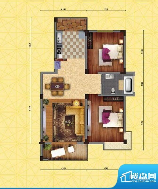 家天下C′户型 2室2面积:95.05m平米