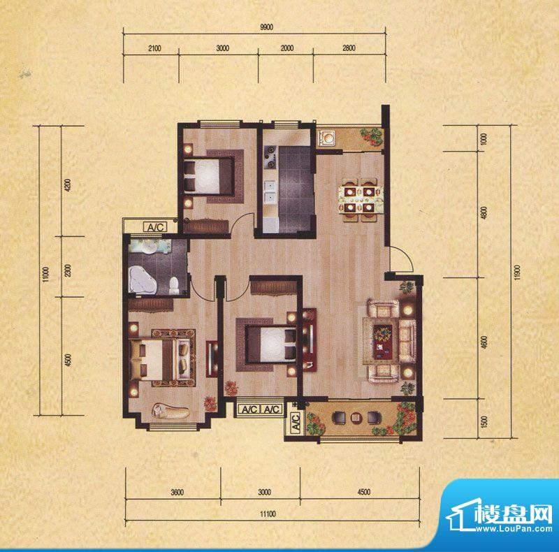东昌玉龙公馆C2-1 面积:0.00m平米