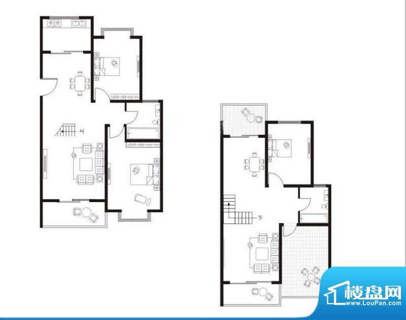 翠湖林居C1户型 4室面积:147.17m平米