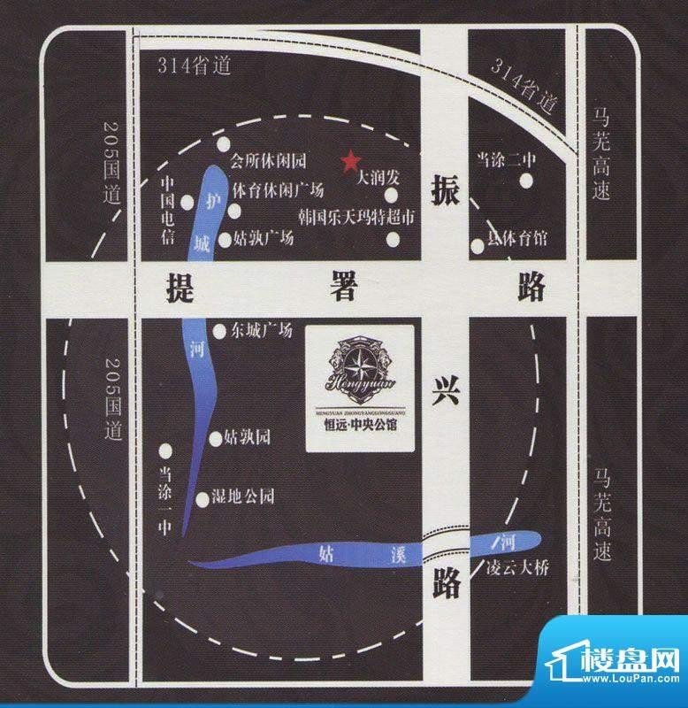 恒远中央公馆交通图