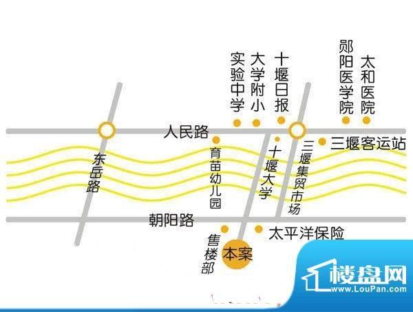 泰山·阳光庭院二期交通图