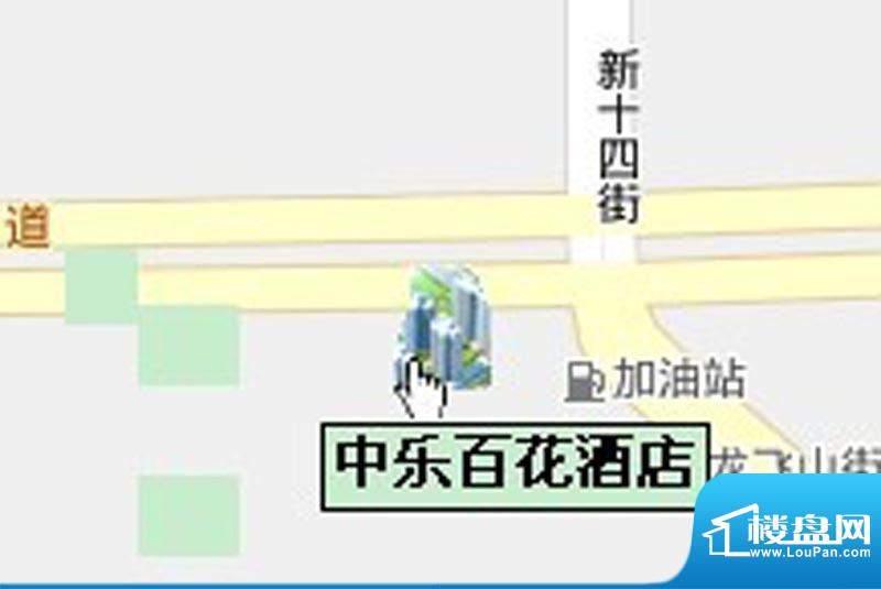 中乐百花公馆交通图